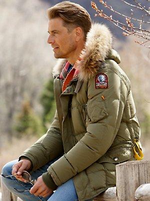 Warme Winterjas Parka Met Bontkraag Normale Mannen